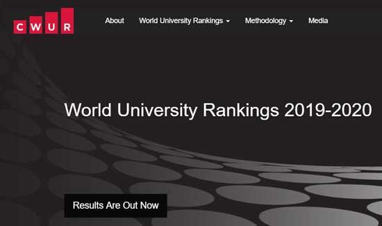 2020年CWUR世界大学排名发布!八所美国大学进入前十!